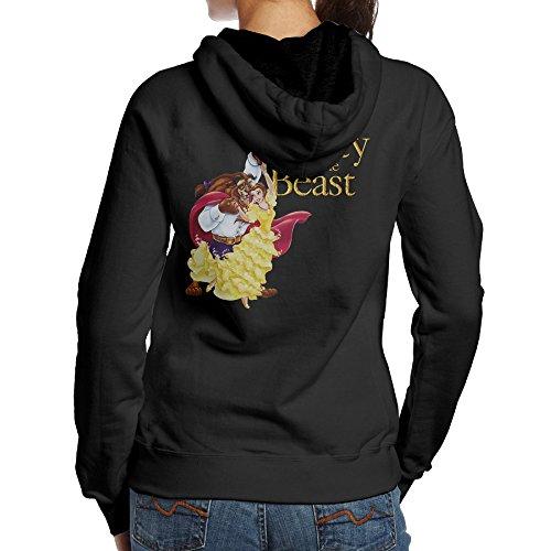 Beauty And The Beast Women's Cool Hooded Sweatshirt Black (Halloween Movies 2017 Trailers)