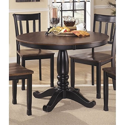 Ashley Owingsville Round Dining Table In Black And Brown