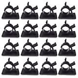 100Pcs Cable Clamp Wire Holder Clips Adjustable Adhesive LY0810 Type Cable Management Clips with Fixed Base Black