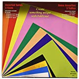Yasutomo Assorted Solid Origami 4-1/2 Inch, 5-7/8 Inch and 8 Inch Papers 55/Package, Square