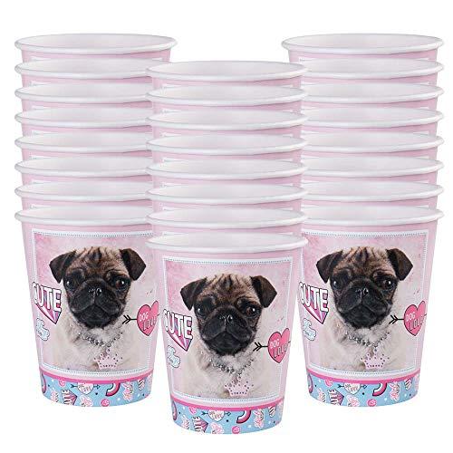 BirthdayExpress Rachael Hale Dog Love 9oz Paper Cups (24)