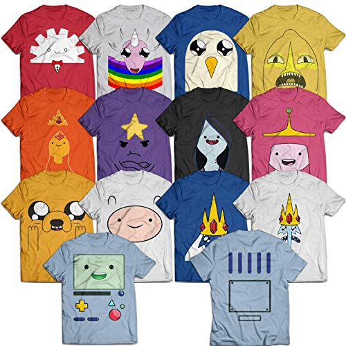 Adventure Team Character Time Costume Halloween Cartoon Group Costume Customized T-Shirt | Long-Sleeve | Hoodie | Tank Top | Sweatshirt]()