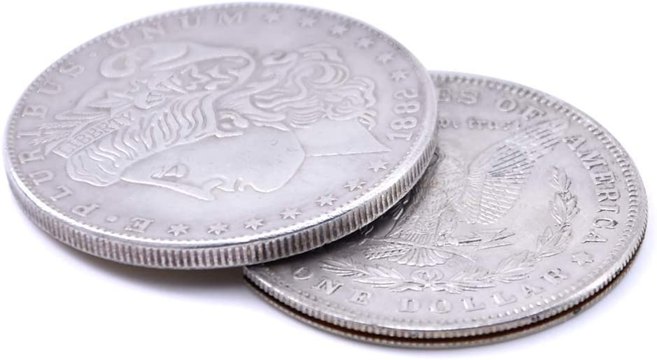 Enjoyer Flipper Coin Morgan Magic Tricks Coin into Bottle Coin Magic Gimmicks Professional Magician Accessories