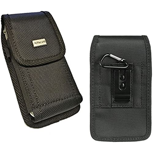 Samsung Galaxy S6 edge+plus / NOTE 5 / NOTE 4 / S7 edge / J7 / On5~Pouch Case Holster TOUGH Nylon Canvas Metal Sales
