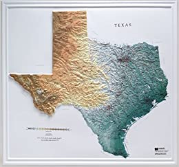 Hubbard Scientific Raised Relief Map Texas State Map - Us raised relief topographical map