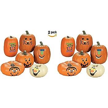 Amazon.com: Fun Express Pumpkin Decoration Crafting Kit with Foam ...