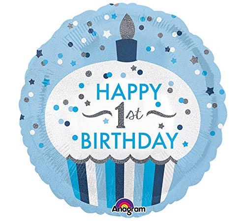 Burton & Burton Happy First Birhtday Foil/Mylar Balloon (Happy Birhtday)