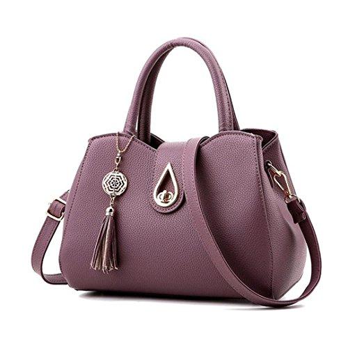Messenger Tassel célèbre Red Femmes à Purple sacs 20cmXLongueur tout fourre Top Femmes cm sac Sac main gris Sacs maxX30 PU Sac Handle Arrivel cuir t6OfCq