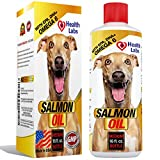 Omega 3 & 6 Salmon Oil Liquid for Dogs and Cats – 100% Pure Natural Organic Fish Oil Supplements for Pets – Unscented Formula With EPA DHA – For Healthy Skin and Shiny Coats – 16oz – 100% Satisfaction