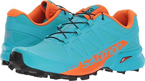 Salomon Speedcross Pro 2W Running-Shoes - Blue Bird, Scarlet Ibis, Black - Womens - 7 by Salomon