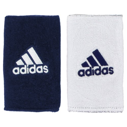 (Adidas Interval Large Reversible Wristband, Collegiate Navy/White / White/Collegiate Navy, One Size Fits All)