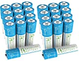 24 AA 600mAh NI-MH Rechargeable Batteries Baseline Battery NIMH for Solar Path Garden Lights, Appliances, Remotes