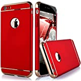 iphone 5 case with can opener - iPhone 6S Plus Case, Asstar Luxury Fashion Four Corner Ultra-thin 3 in 1 Metal Shock Resistant Protection Hard PC Back Case Cover for Apple iPhone 6S Plus / 6 Plus (Red)