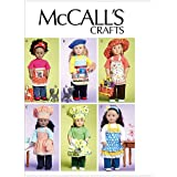 """McCall's Patterns M6451 18"""" (46cm) Doll Clothes, Bag, Towel and Cat, One Size Only"""