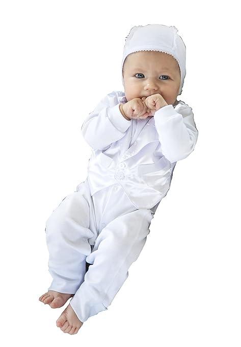 Hecho a mano de felicitación para bautizo Mono corto de 4 piezas muñeca con vestido de color blanco y toalla ...