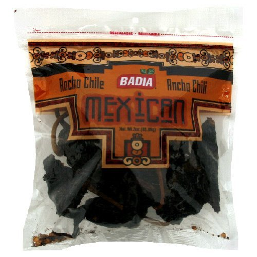 Badia Ancho Chili Pods, 3-Ounce (Pack of 12)