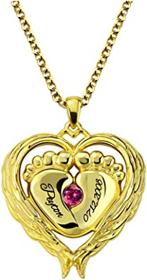 Getname Necklace Personalized Key to My Heart Couple Pendants Set Birthstone Engraved Necklace Sterling Silver 925