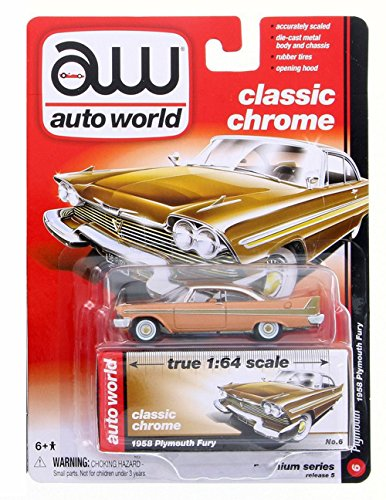 1958 Plymouth Fury, Copper Glow - Auto World AW64042A - 1/64