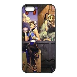 Ibuki And Chun Li Street Fighter 33 funda iPhone 5 5S Negro de la cubierta del teléfono celular de la cubierta del caso funda EOKXLLNBC13095