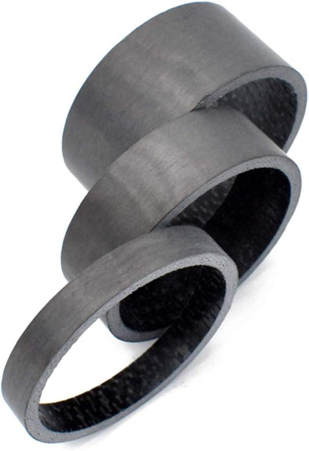 Patpan 5pcs Set de 28,6 mm de Fibra de Carbono de Bicicletas Tenedor de Fibra de Carbono Tenedor Headset Espaciador de Ciclismo de Carretera de monta/ña de la Bicicleta MTB Frente Tenedor de Juntas