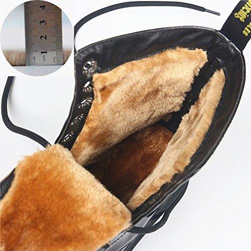 Pizzo da Occidentali Neve Cashmere Tondi con Sgualcito Stivali da Caldo Ispessimento B Vento Scarpe in Stivali in OZIqn1wFx