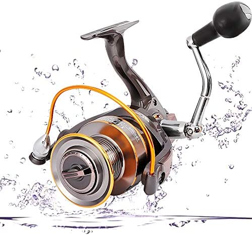 Portzon Fishing Reel/Telescopic Fishing Rod and Reel Combos Full KitPortzon Spinning Reel, 5.1: 1,7000 Fishing Reel Spinning, Freshwater Reel Fishing Gear for Lack Reservoir Pond Stream Travel