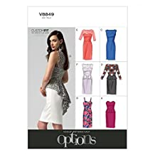 Vogue Ladies Easy Sewing Pattern 8849 Evening Dresses with Cup Sizes