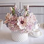 MEDA-BLOOMS-Silk-Hydrangea-and-Magnolia-Flower-Arrangement-in-White-Ceramic-Vase-Home-Office-Wedding-Table-Centerpiece-Decorations