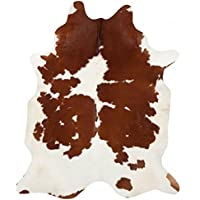 A-STAR(TM) Large Cowhide Rug - Cow Hides Rug 5 x 6 (Brown and White)