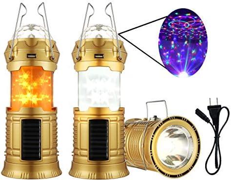 Amazon.com: Irisvito - Linterna solar LED recargable para ...