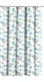 Fabric Shower Curtains with Fish Deep Sea Fabric Shower Curtain: Ocean Life Fish Theme, Teal Blue Green Grey White, 70