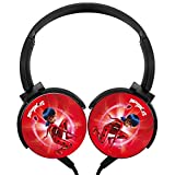 LSCX007 Miraculous_L Portable Over Ear Wired Stereo Adjustable Headphones Headset USB Charger Built-in Mic Microphone For Kids Adults With Computer/Cell Phones/ TV Gaming