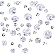 Outus 3800 Pieces Clear Wedding Table Scattering Crystals, 4 Sizes Artificial Acrylic Diamonds, Table Decoration for Birthday Baby Shower Party