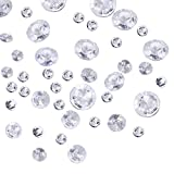 Outus 3800 Pieces Clear Wedding Table Scattering Crystals 4 Sizes Artificial Acrylic Diamonds Table Decoration for Birthday Baby Shower Party
