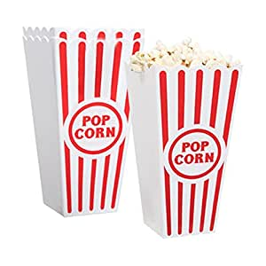 Plastic Popcorn Containers - Set of 4