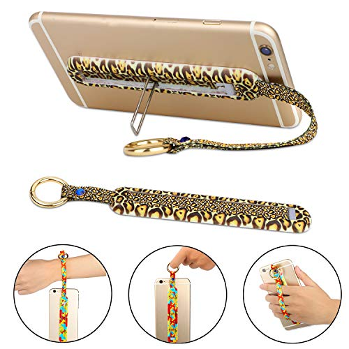Cell Phone Grip Strap, Multifunctional Bunker Ring Finger Loop with Kickstand, Universal Mobile Sling Strap for iPhone or Android Smartphone, Works with Cases (Patterns)