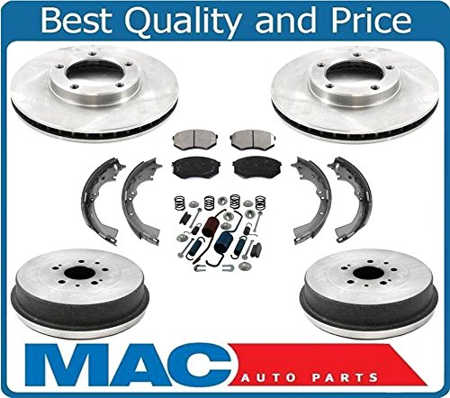 For 95-04 Tacoma Rear Wheel Drive 5 Stud Front Brake Rotors & Pads Drums Shoes (10 Rotor Front Inch)