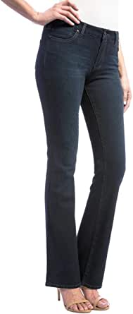 Liverpool Jeans Company Women's Lucy Bootcut Mid Rise with Shaping and Slimming 4-Way Stretch Denim Jean