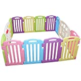 Baby Playpen Kids 14 Panel Safety Play Center Yard Home Indoor Outdoor Pen by FDW