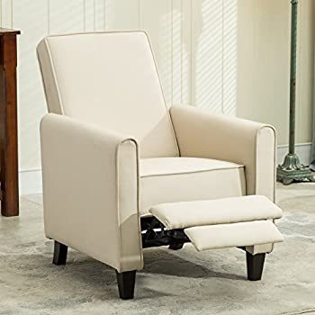 Belleze Modern Living Room Furniture Design Recliner Club Linen Chair Accent Beige & Amazon.com: Belleze Modern Living Room Furniture Design Recliner ... islam-shia.org
