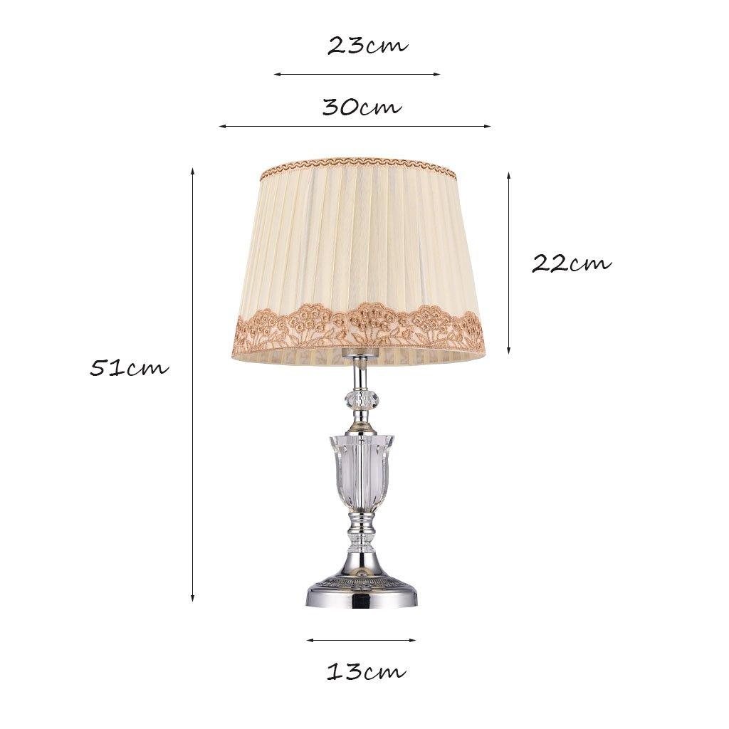 Briskaari Store- Modern Crystal Lamp Lighting Bedroom Bedside Lamp Luxury Crystal Desk Lamp with Cloth Lamp Shade by Briskaari Store (Image #2)