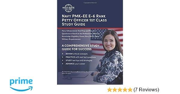 Amazon com: Navy PMK-EE E-6 Rank Petty Officer 1st Class Study Guide