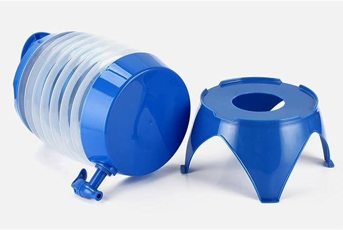 Bleu winomo Camping Bidon R/éservoir /à eau pliable bi/ère boissons Pot Ustensile original avec fond partie et robinet pour Outdoor Camping Voyages 5L