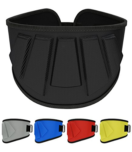 Rip Toned 6 inch Weightlifting Belt, Olympic Lifting, Weight Lifting Belt Men Women, Back Support Weightlifting (Black, Medium)