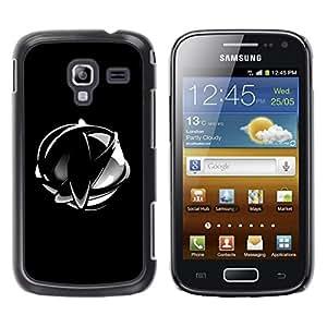TopCaseStore / la caja del caucho duro de la cubierta de protección de la piel - Abstract Chrome Sphere - Samsung Galaxy Ace 2 I8160 Ace II X S7560M