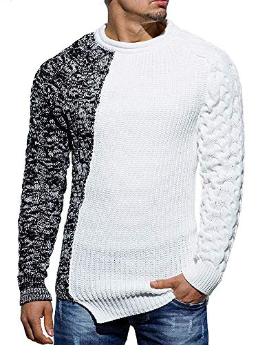 Kerrian Online Fashions 51-xcHhfO6L Taoliyuan Mens Pullover Sweater Winter Ribbed Knitted Color Block Comfort Stylish Twisted Long Sleeves Sweaters