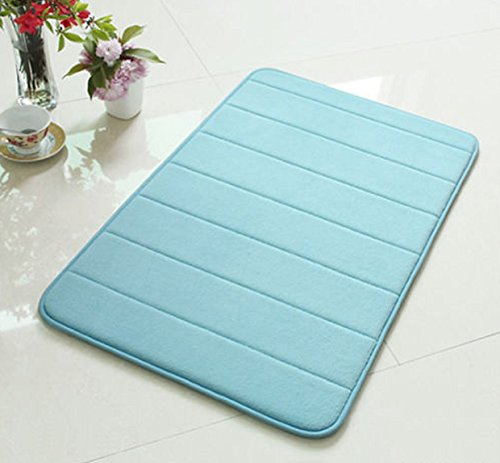 "New 32""x20'' Non-Slip Back Rug Soft Bathroom Carpet Memory Foam Bath Mat Comfort blue 32"" Blue"