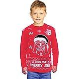 Christmas Jumper Xmas Star Wars Kids Vader Knitted Pullover Children Sweater