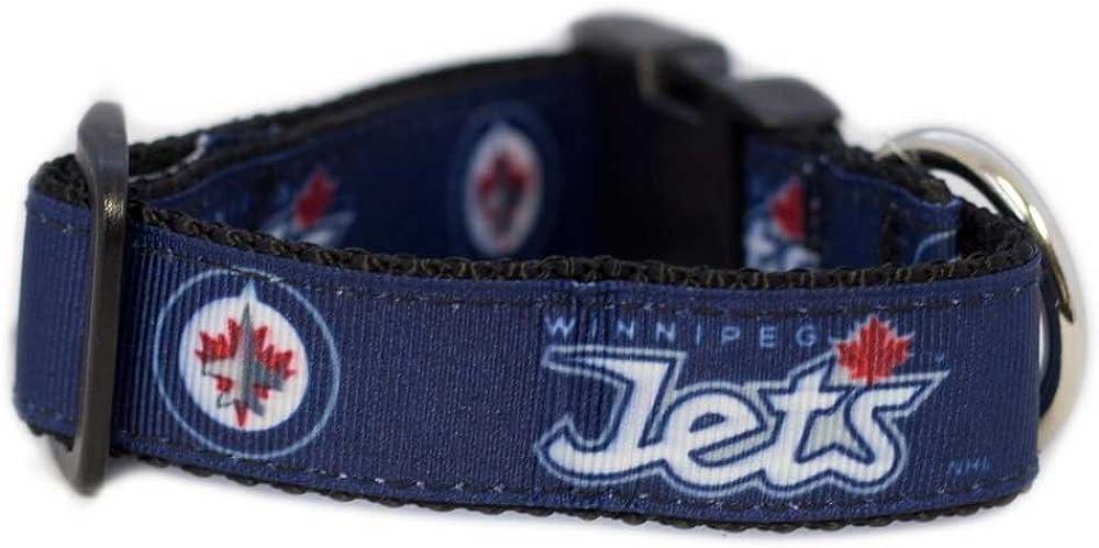 Navy Small All Star Dogs NHL Winnipeg Jets Dog Collar