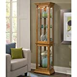 Pulaski Curio, 18 by 11 by 70-Inch, Medium Brown